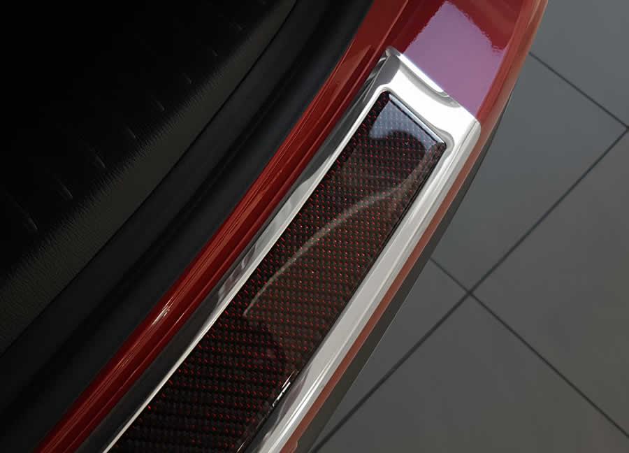 Steel mirror + Red/Black carbon fiber insert